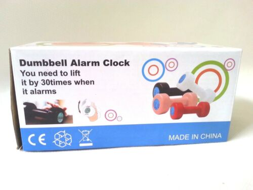 Creative Red Dumbbell Alarm Clock Normal /& Exercise Lift Up 30 Times Brand New