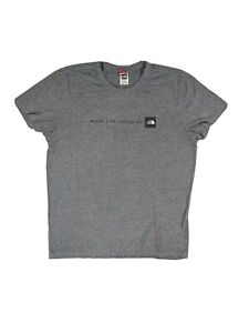 The-North-Face-Grey-Logo-Mens-T-Shirt-Tee-Size-Large-L