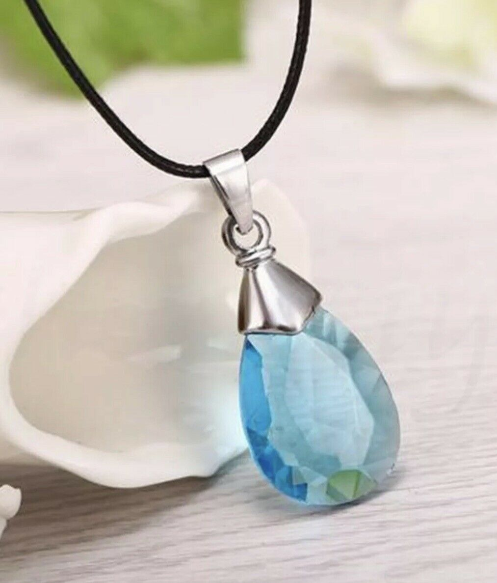 """Sword Art Online SAO Anime Heart Of Yui Crystal Necklace Pendant 1"""" US Seller"""