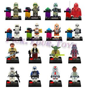 16 PCS Star Wars Chewbacca Master Darth Vader Custom Minifigure Building Toys US