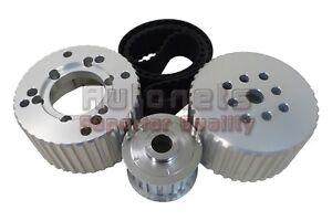 SBC Small Block Chevy Long Water Pump Gilmer Belt Drive Pulley Kit 305 350 400