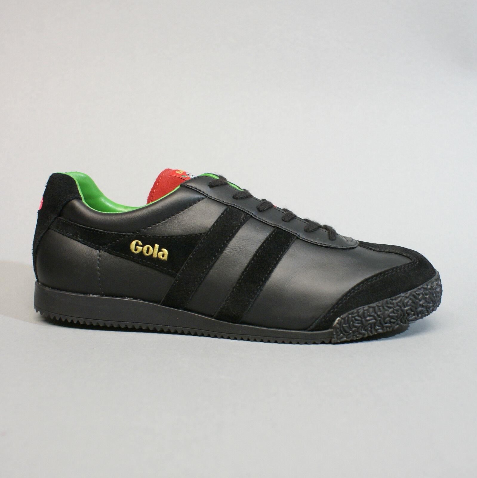 Gola Harrier Pub Games Darts schwarz Leder CMA393 Turnschuhe Sneakers schwarz Leder schwarz bf1263