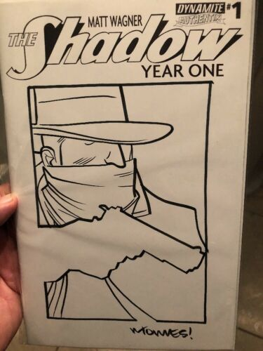 The Shadow Year One #1 Original art Edition by Wilfredo Torres Of The Shadow COA