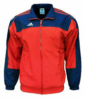 adidas Men's 3S Essentials Warm Up Training Tracksuit Top Jacket red / navy