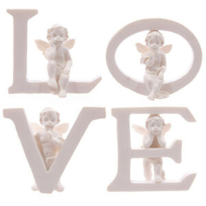 LOVE-Set-of-Four-Letters-Cherub-Ornaments-Figures-Valentines-Mothers-Day-CHE51