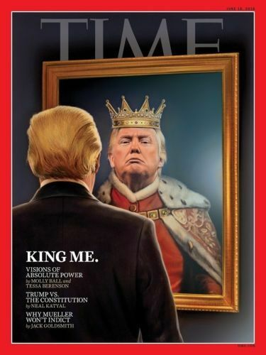 Donald Trump King Me Time Magazine Art Poster 12x18 24x36inch 377