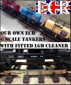 G Échelle 45mm Jauge Chemin De Fer Train Citerne & Ajusté Lgb Nettoyant Camion