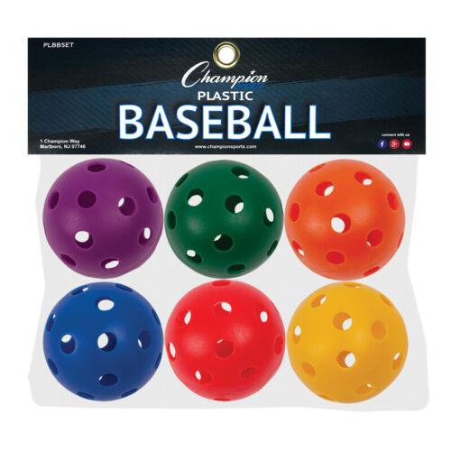 Plastic Balls Baseball size Set of 6