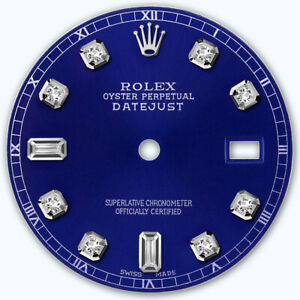 REFINED-MENS-SS-DATEJUST-BLUE-8-2-DIAMOND-DIAL-RT-FOR-ROLEX-36