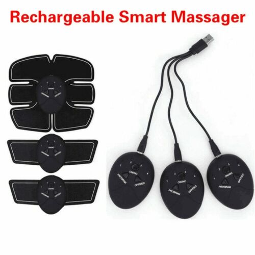 Smart EMS Rechargeable Abdominal Muscle Trainer Fitness Muscle Press Stimulator