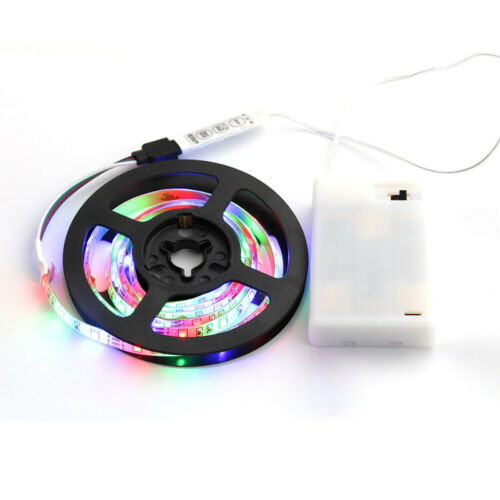 Details about  /5V Battery Powered LED 3528 SMD RGB Strip  Waterproof Backlight Flexible Strip