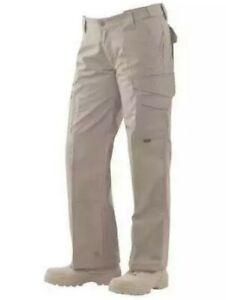 Tru Spec Pantalones Tacticos Para Mujer Talla 10 Khaki Grueso Resistente Ebay