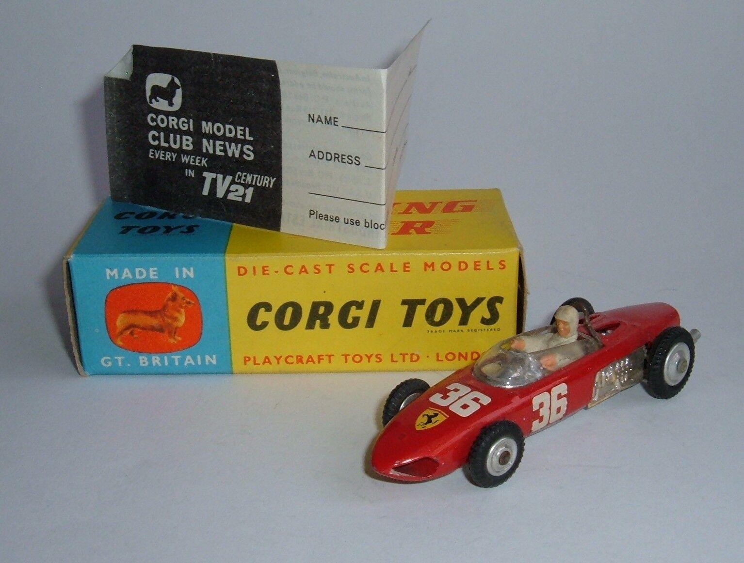 Corgi spielzeug nr. 154, ferrari - formel - 1 - grand - prix rennwagen, - grandios.