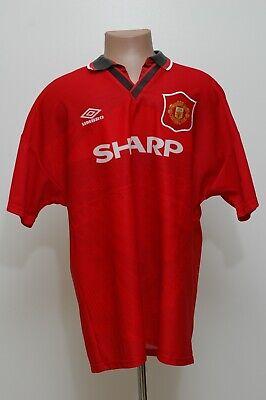 MANCHESTER UNITED 1994/1995/1996 HOME FOOTBALL SHIRT JERSEY UMBRO SIZE XL ADULT | eBay