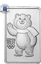 Russland  3 Rubel 2012 Stgl. 1 Oz Silber Münzbarren Olympiade Sochi Polarbär