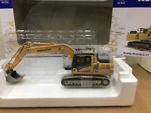 Universal-Hobbies-1-50-Komatsu-Muddy-PC210LC-11-Excavator-DieCast-Model-UH8144