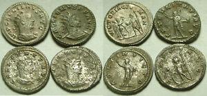 1 Genuine Ancient Roman silver coin Antoninianus Gallienus Victory Sol Mars RARE