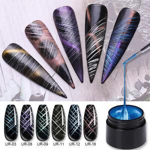 UR-SUGAR-7ml-Metallisch-Gel-Nailslack-Elastic-Drawing-Soak-Off-UV-Gel-Nagellack