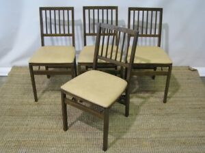 Set-of-4-Stakmore-Retro-Upholstered-Folding-Chairs-Exceptionally-Clean-2
