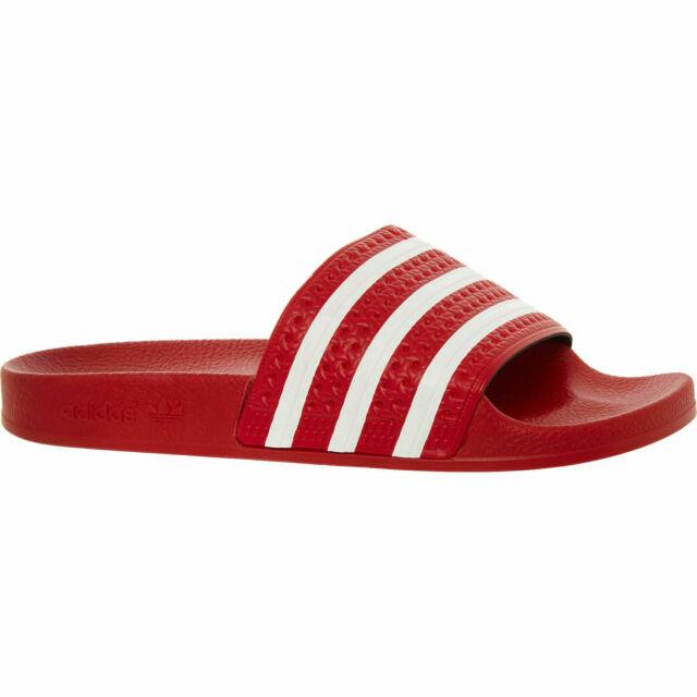 adidas Adilette Slides Sandals Mens Red