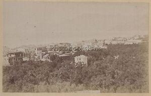 Bordighera Italia Stampa Albume D'Uovo Vintage Ca 1875
