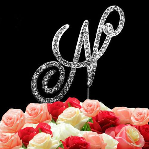 A-Z Strass Diamant Strass Alphabets Lettre Gâteau dessus Fonction Décoration