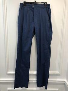 Vintage Woolrich 34 x 34 Hose Totes navy Cotton Stretch 1960 Retro
