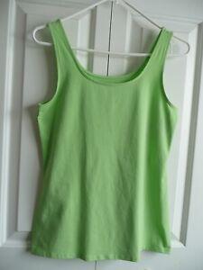 NWT-J-JILL-Women-039-s-Tank-Top-Color-Celadon-Cotton-Blend-Size-Small