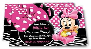 Image Is Loading Personalised Minnie Mouse Kids Birthday Party Invitations For