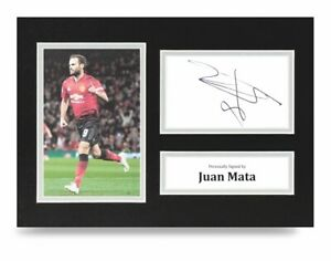 Juan-Mata-Signed-A4-Photo-Display-Manchester-United-Autograph-Memorabilia-COA