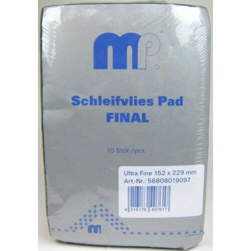 (1,67€/1Stk) Schleifvlies Pad Final 152x229mm Ultra Fein ( grau ) 10 Stück