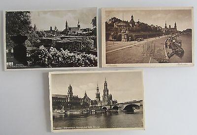 Gewidmet Postkarten Lot 3x Dresden Sachsen Ua. Ständehaus, Jap.palais, Belvedere Um 1935