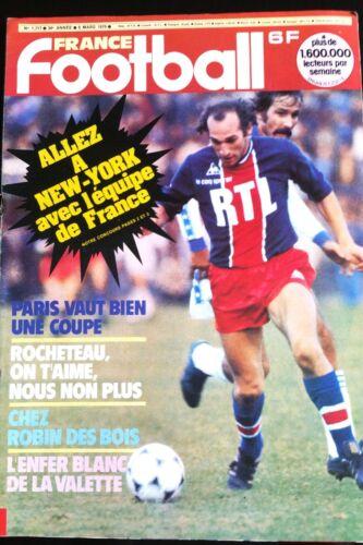FRANCE FOOTBALL 6//03//1979; Delachet// Rocheteau// Nottingham Forest// Paris