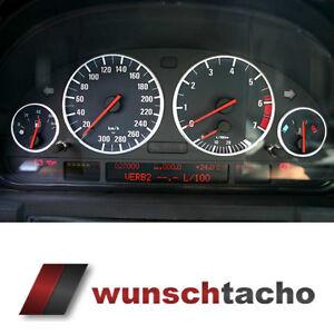 Tachoscheibe-fuer-BMW-E38-E39-E53-X5-034-Black-Orig-034-300-Kmh-Benziner