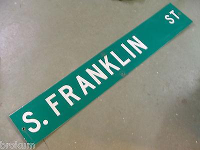 "LARGE Original~ WILLIAMSON ST Street Sign 54/"" X 9/"" White Lettering on Green"