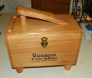 Image Is Loading Ronson Shoe Shine Box With Electric Polisher HD54