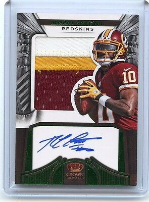 ROBERT GRIFFIN III 2012 CROWN ROYALE GREENE SILHOUETTE 3 CLR PATCH AUTO RC //49