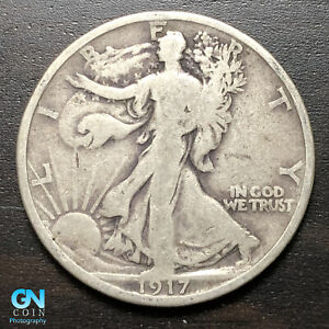 ONE 1917-1947 P,D,S F or XF  WALKING LIBERTY HALF DOLLAR SILVER