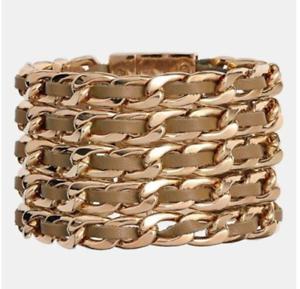 f1c3146bd889 Image is loading Cara-Leather-Link-Women-039-s-Bracelet-0744