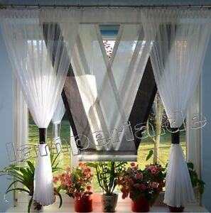 fenster 160 cm gardine komplett dekoration wohnzimmer wei