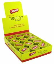 Carmex Ointment Lip Balm Original Jar for Cold-Sores (Box of 12) 0.25oz Jars