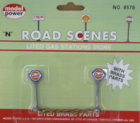 Model Power N Road Scenes - Pack of 2 Gulf Lited Gas Station Signs Toys