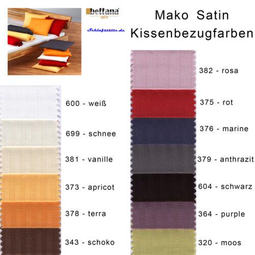 Bellana Kissenbezug Streifen Mako Satin 15x40 40x40 40x60 40x80 80x80 cm