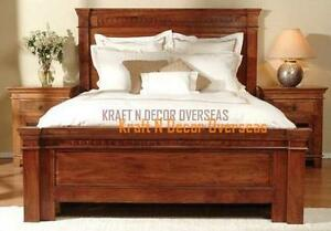 Comtempory Double Bed King Size in Brown Colour