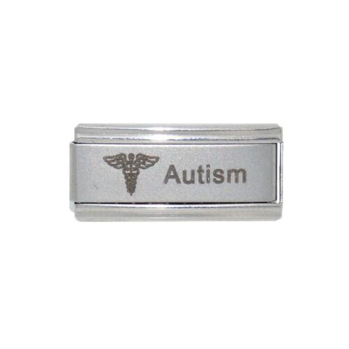 Autism superlink medical charm fits 9mm classic Italian Charm bracelets