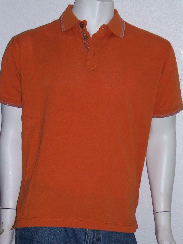 ROBERT GRAHAM 3 BUTTON DOWN POLO RUGBY orange SHIRT SIZE XL MENS BOYS