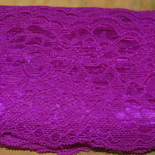 1 Meter Spitze Polyester Spitzenband Lace elastisch 29 Farben Spitzenbesatz 8 cm