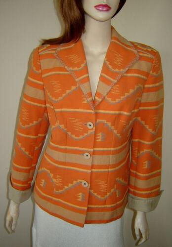 Print 8 Blanket Creek beige Stitch Cotton Coldwater Orange Jacket Southwestern gwIxqzW6RF