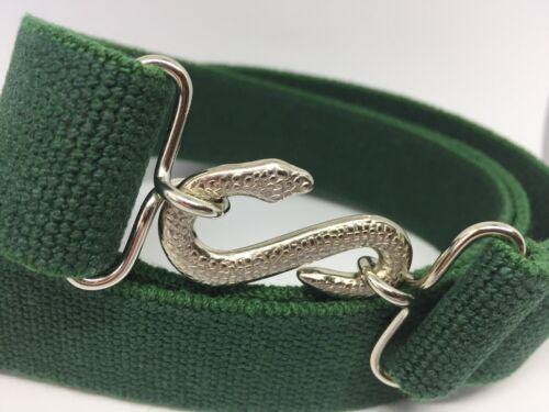 Vert 30 mm Adulte Garçons Hommes Maçonnique Mason G Élastique Serpent Ceinture XXL XL b1