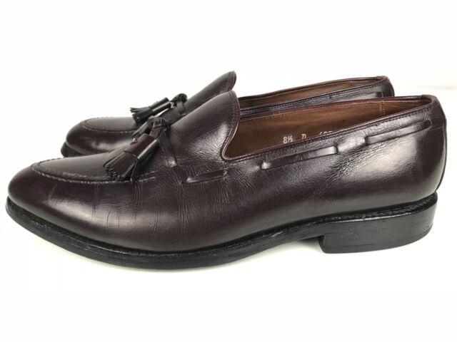 Allen Edmonds Grayson Apron Toe Leather Loafers USA Burgundy Men's 8.5 D